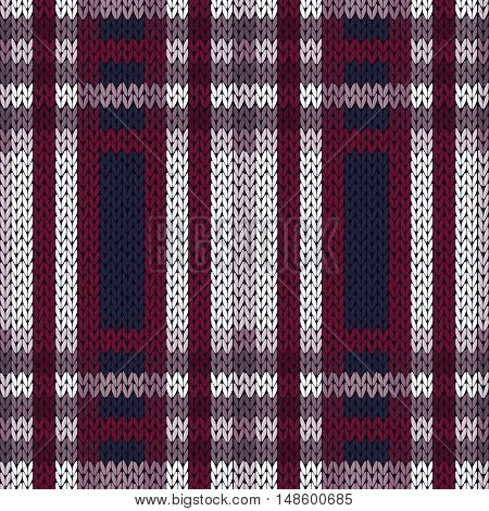 Seamless Pattern As A Knitted Fabric In Contrast Colors