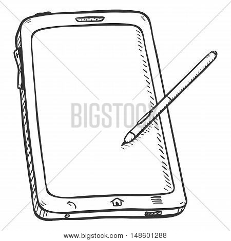 Vector Single Sketch Tablet Pc With Stilus Pen