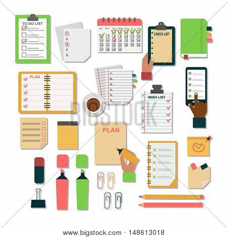 Vector notebook agenda business note. Meeting notebook plan work reminder agenda business note. Schedule calendar planner organizer agenda business note appointment concept. poster