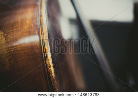 Double Bass Body Close Up