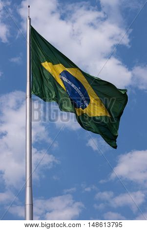 Brazil's flag brazilian national patriotism wind flying