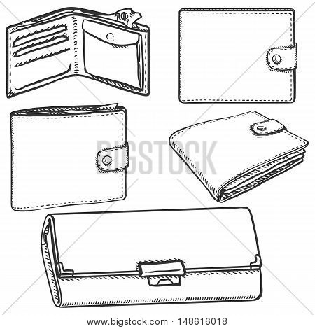 Vector Set Of Sketch Wallets