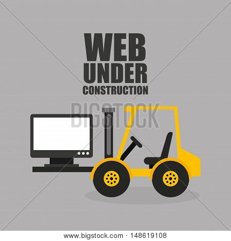 web page under construction vector illustration design