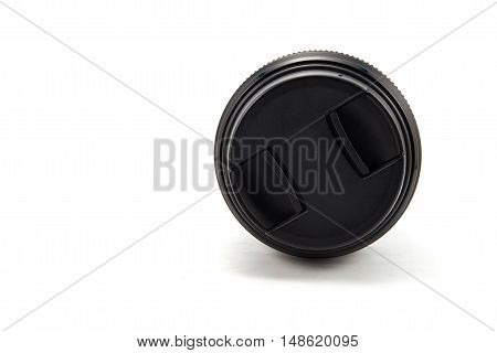The camera len isolated on white background.
