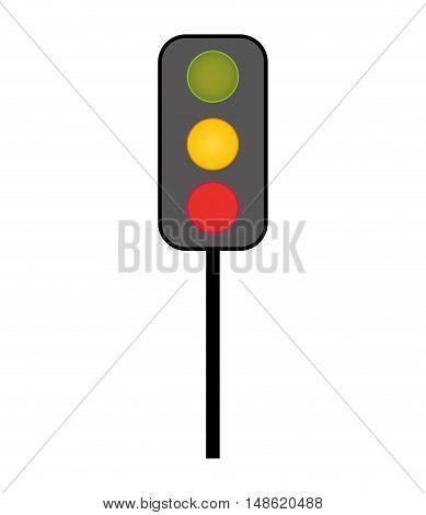 traffic lights road sign. semaphore signal. vector illustration