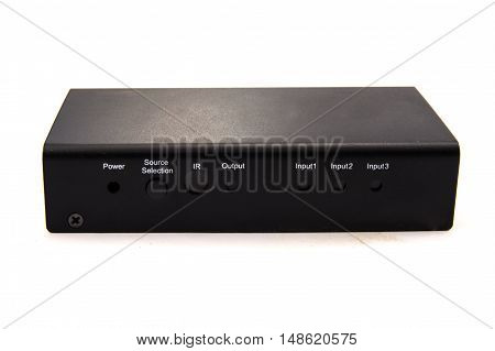 The HDMI switch isolated on white background