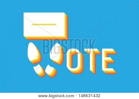 Symbolic composition on the subject of voting with letter