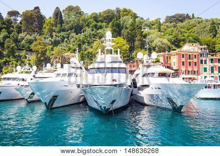 Portofino, Italy - Summer 2016 - Three Luxury Yacht