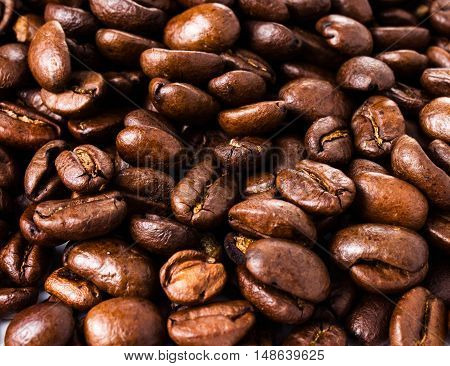 Nice and beautiful Roasted Coffee Macro Background