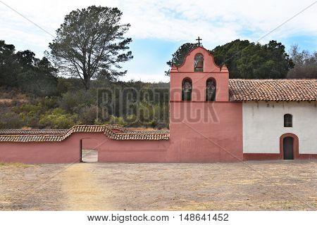 LOMPOC, CALIFORNIA - SEPTEMBER 21, 2016: Mission La Purisima Concepcion de Maria Santisima. La Purisima was the eleventh mission of the twenty-one Spanish Missions.