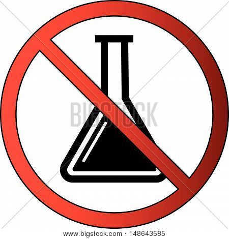 No Chemistry Allowed or Liquid Prohibited Icon