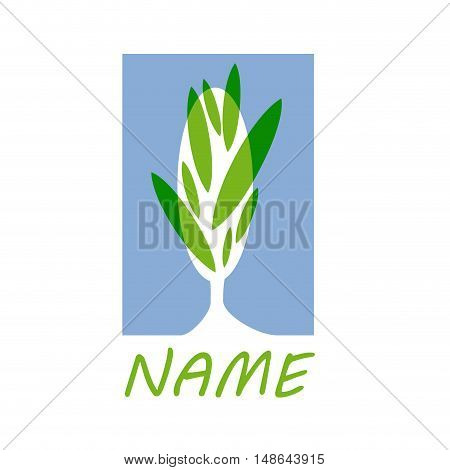 Vector sign green park, isolated on white