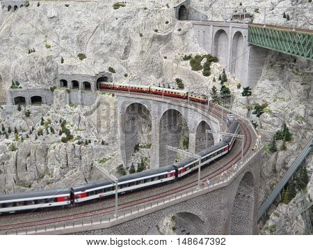 Part of worlds largest Model Railway Set in Hamburg Germany