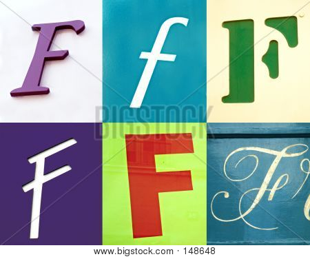 f letter - the urban collection poster