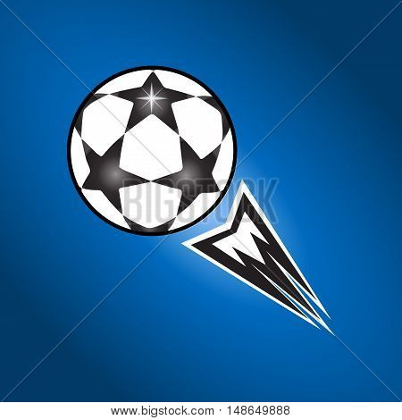 Soccer ball. Footbal ball. Soccer ball icon. UEFA 2016. EURO Championship Soccer Ball. Soccer ball fly. Champions match Soccer ball. Vector abstract illustration. Flat vector.