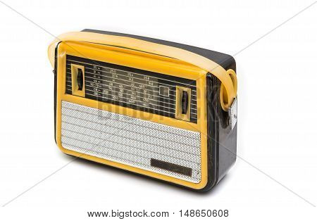 retro radio vintage isolated on white background