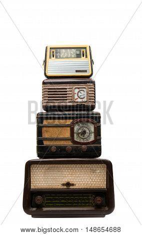 retro radio nostalgia isolated on white background