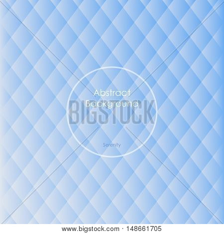 Gradient white and blue colored rhombus polygon pattern vintage background. Abstract geometrical background made up with triangular and rhombus shapes. Brochure poster design. Wallpapers for your computer phone and tablet. Vector illustration.