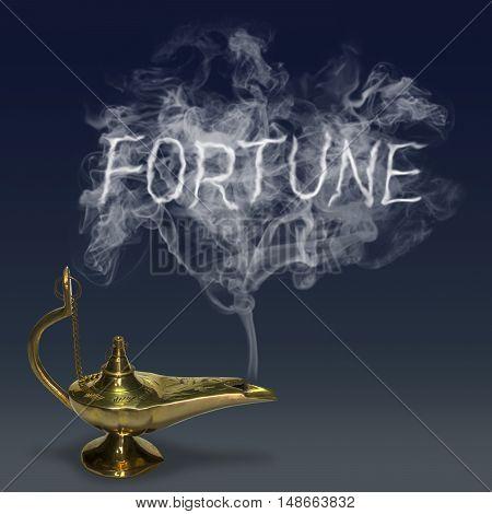 Aladdin's Magic Lamp genie mythology fantasy smoking