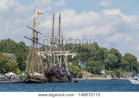Tall ships on the St. Lawrence Seaway