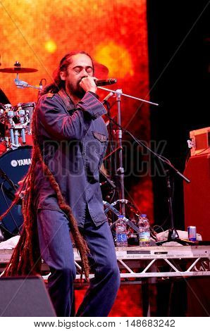 Jamaican reggae artist Damian Marley performing live on stage at Bestival Festival,  September 9th 2016, Isle of Wight, UK