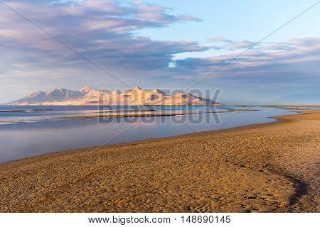 Peaks Behind Salt Lake