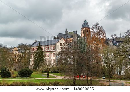 view of Wetzlar old town with cathedral Germany