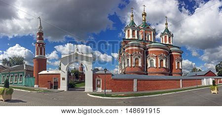 KOLOMNA RUSSIA - AUGUST 26 2016: Brusensky Assumption Monastery in Kolomna Kremlin