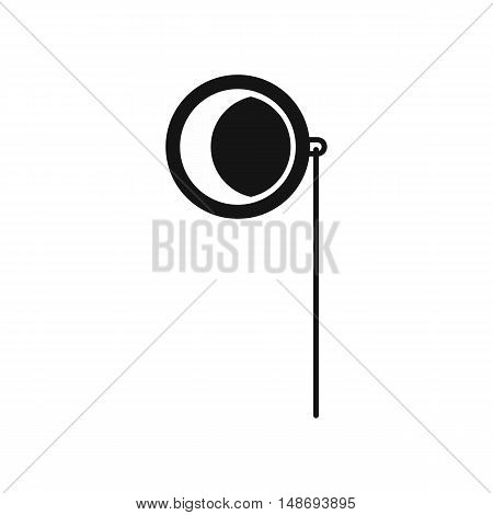Monocle icon in simple style on a white background vector illustration