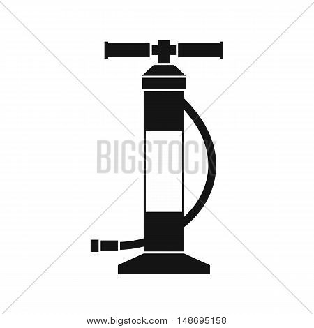 Hand air pump icon in simple style on a white background vector illustration