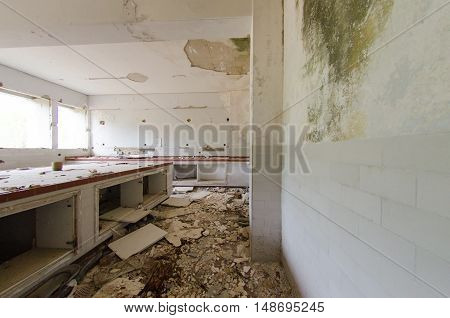 abondoned chemical lamboratory after earthquake 1999 athens greece