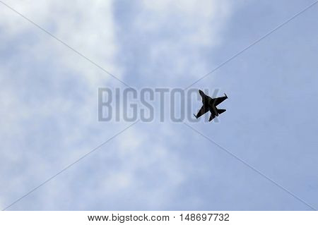 Military Fighter Jet Flying Solo