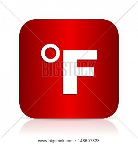 fahrenheit red square modern design icon