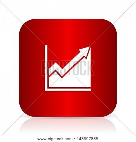 histogram red square modern design icon