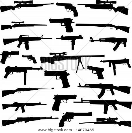 weapon collection - vector