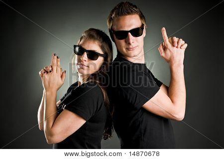 Wild Couple With Guns