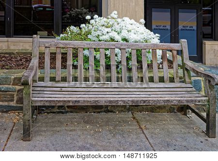 Bench In The George Washington University In Washington Dc