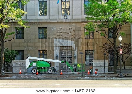 Construction Works Near The Federal Trade Commission Building