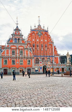 House Of The Blackheads In Old Town In Riga