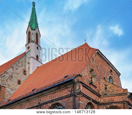 St John Church In The Old Town Of Riga