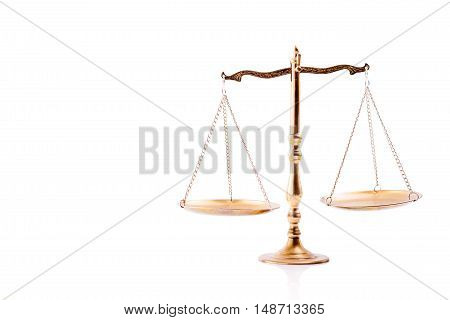 Golden Scales Of Justice.