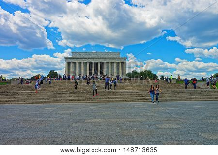 Lincoln Memorial In Washington Dc Usa