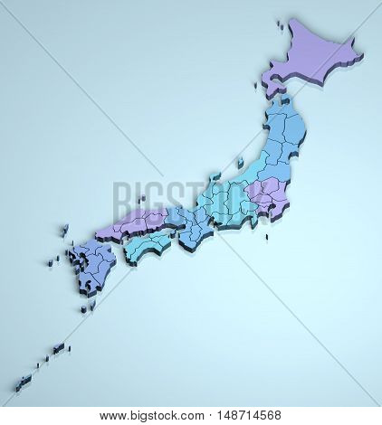 Japan 3D country islands geographical geography asia