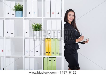 Business Woman Getting Ready To Meeting