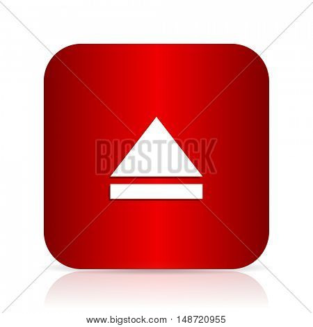 eject red square modern design icon