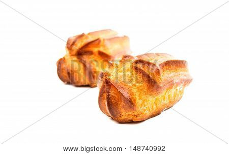 choux pastry food  isolated on white background