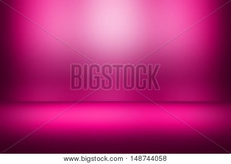 pink, red gradient background / beautiful rose color abstract background / empty room studio background