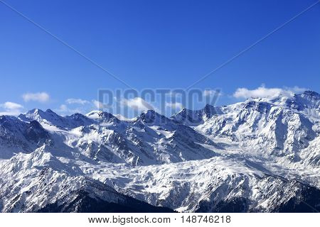 Snow Winter Mountains In Nice Sunny Day