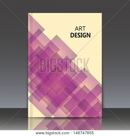 Abstract composition polygonal lozenge construction square blocks diamond box surface crystal facets a4 brochure title sheet rhombus logo business trademark icon EPS 10 vector
