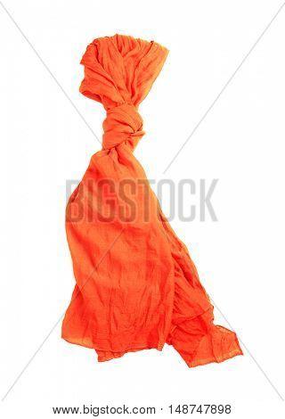 Orange neckerchief isolated on white
